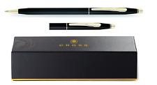Cross Century Classic Black GT (Gold Trim) Ball Pen Black Ink, New in Box