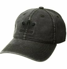 adidas Men's Originals Relaxed Fit Strapback Cap, Black/Black, One Size, 0010