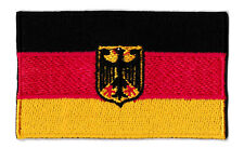 Patche écusson drapeau Allemagne Deutschland 75x45 mm brodé thermocollant