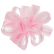 """3/8"""" Satin and Organza Pull Bow 25 Yards Makes 25 Bows - Light Pink"""