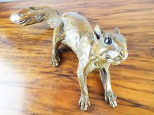 Vintage Bronze Art Sculpture Squirrel Signed Margery Torrey Harvey Wallbanger