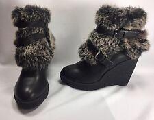 Baby Phat Demaris Women Shoes Black Faux Leather Fashion Ankle Boot Sz 10 M