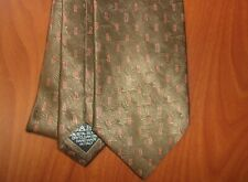 Brioni Geometric Print Pattern Hand Made Woven Silk Extra Long Tie ~NEW~ Italy