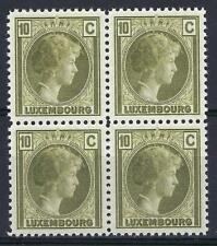 Luxembourg 1926 Sc# 160 Charlotte 10c block 4 MNH