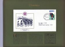 U.S. Bicentennial, Dominica FDC 4/12/76 map background (STAMPS, POSTAGE, FREEDOM