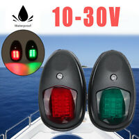 2Pcs Green+Red LED Port Starboard Navigation Light Lamp Marine Boat Yacht  R
