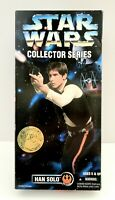 """Vintage 1996 Kenner Star Wars Collector Series Han Solo 12"""" Action Figure"""