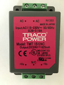 TRACOPOWER TMT 15124C AC/DC Enclosed Power Supply