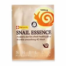 [SHILLS] Snail Essence Wrinkle Smoothing 4D Facial Mask 5pcs NEW