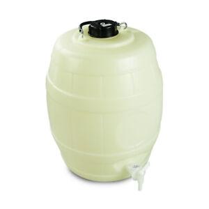 "25l Home Brew Pressure Barrel 2"" Vented PD Cap and Quickserve Tap Beer/Cider"