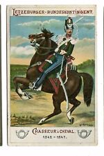 Vintage Postcard LUXEMBOURG Letzeburger Chasseur i Cheval Horse Soldier 1919