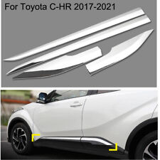 Chrome Body door Side Molding Trim sill Cover Guard For Toyota C-HR 2017-2021