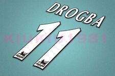 Chelsea Drogba #11 PREMIER LEAGUE 97-06 White Name/Number Set