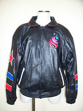 100 Years Olympics Games Collection Atlanta USA 1996 Leather Souvenir Jacket - M
