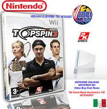 TOP SPIN 3 NUOVO IMBALLATO in ITALIANO per NINTENDO Wii