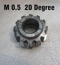 1pcs Gear Hob M0.5 bore 8mm 20 degree HSS Module 0.5 Gear Hob Cutter 25mm Dia A