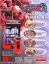 Namco CRISIS ZONE Original 1999 NOS Video Arcade Game Promo Sales Flyer Adv.
