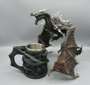 Deko Figuren - Drachen und Trinkbecher - Gothic, Fantasy - Nemesis Now