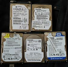 """2.5"""" SATA Hard Drives HDD for Laptop 5 drives used 320GB + other capacity"""