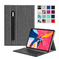 For iPad Pro 11 inch 2018 Case Slim Shell with Detachable Bluetooth Keyboard
