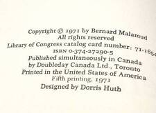 Bernard Malamud The Tenants 1971 Hardcover Vintage Jewish Fiction