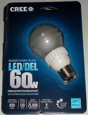 CREE 9W=60W 120V 5000K 800 LUMENS DAYLIGHT DIMMABLE LED LIGHT BULB LAMP STANDARD