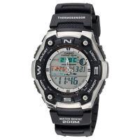 Casio AQW101-1AV Men's Analog & Digital Fishing Gear Thermometer Sports Watch