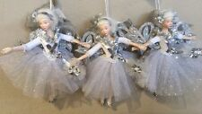 Katherine's Collection Retired Set Of 3 Silver Fairy Ornaments