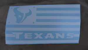Houston Texans Flag car decal