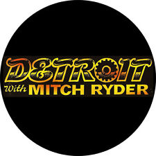 CHAPA/BADGE DETROIT WITH MITCH RYDER . pin button mc5 stooges little richard