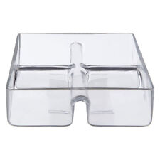 4 Sections Square Durable Glass Serving Bowl Dish Kitchenware Tableware Utensil