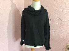 Poof Excellence Womens Sweater Size S Black Cowl Neck Dolman Sleeves