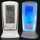 LED Digital Backlight Display Student Alarm Clock Snooze Thermometer Calendar