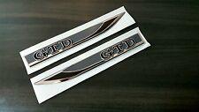 VW Golf 7 GTD Kotflügel Sticker Emblem Folie Schriftzug Aufkleber Schwarz