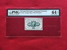 FR-1242 First Issue 10c Cent Fractional Postage Currency *PMG 64 EPQ CHOICE UNC*
