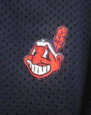 CLEVELAND INDIANS youth XL baseball jersey Chief Wahoo vtg mesh shirt V-neck
