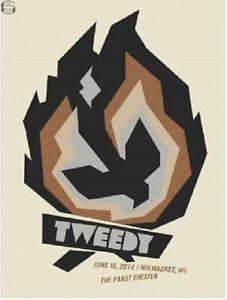 Tweedy Gig Poster, Milwaukee 2014 (Original Silkscreen) 18 x 24' Print