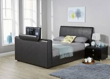 Leather Bed Frames Divan Bases With Built In Tv Stand Ebay