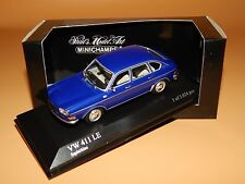 VW 411 LE 1969 in Saphirblau 400051100 Minichamps Scale 1/43 O V P