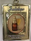 ANDEKER BEER ON DRAUGHT BY PABST  GOLD PLASTIC VINTAGE BEER ADVERTISING SIGN PBR