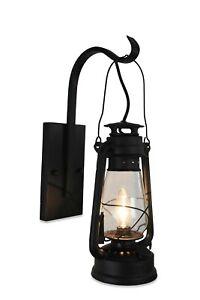 Lantern Wall Sconce-Clear Glass-Rustic Black-Muskoka Lifestyle Products USA