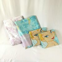 Disney Tinkerbell Bed Sheet Set 4 pcs - Lavender Pink Blue - Size Full-Double