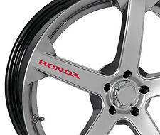 6 x Honda Aufkleber für Felgen Accord Civic Type-R Prelude CRX Emblem Logo R