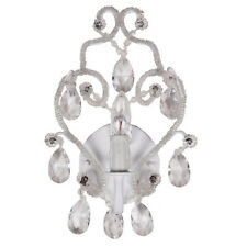 Tadpoles Traditional Wrought Iron Sconce Chandelier, White Diamond - cchasc110