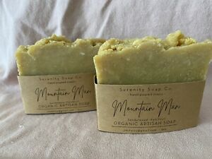 Handcrafted Serenity Soap Rustic Mountain Man Sandalwood Patchouli Soap Bar