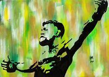 Conor McGregor UFC Original Hand Embellished Pop Art Giclee Print A4