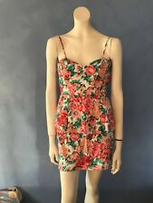 Foxx Pretty  Roses Floral Peplum Dress, Size 14(small like a 10!)