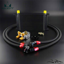22 Row 80 Deg Thermostat Adapter Engine Racing AN10 Oil Cooler Kit For Japan Car
