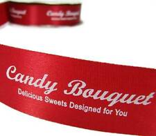 """10 Yards SALE Custom Candy Bouquet Red Acetate Ribbon 1 5/16""""W"""