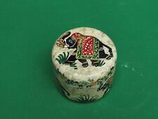 Marble Jewelry Box elephant Stone Hand painted Handmade For Home Decor